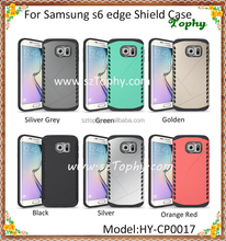 2 IN 1 Hybrid Combo Shatterproof Aegis Armor Shield Case Back Cover Curved Mirror For Samsung Galaxy S6 edge