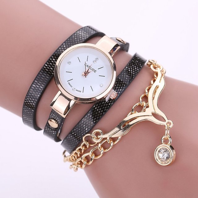 2016 Hot Sale Luxury Top Fashion Casual Wrist Watch Women PU Leather Ladies Bracelet Watch Eagle Female Clock Relogio Feminino