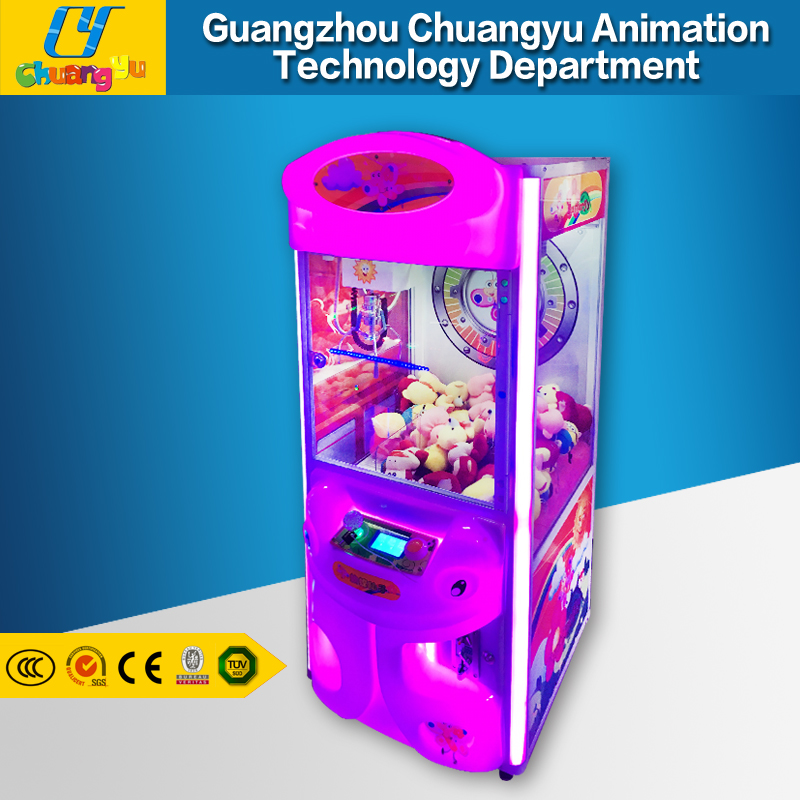 Coin operated toy dolls smaller claw crane vending machines for sale