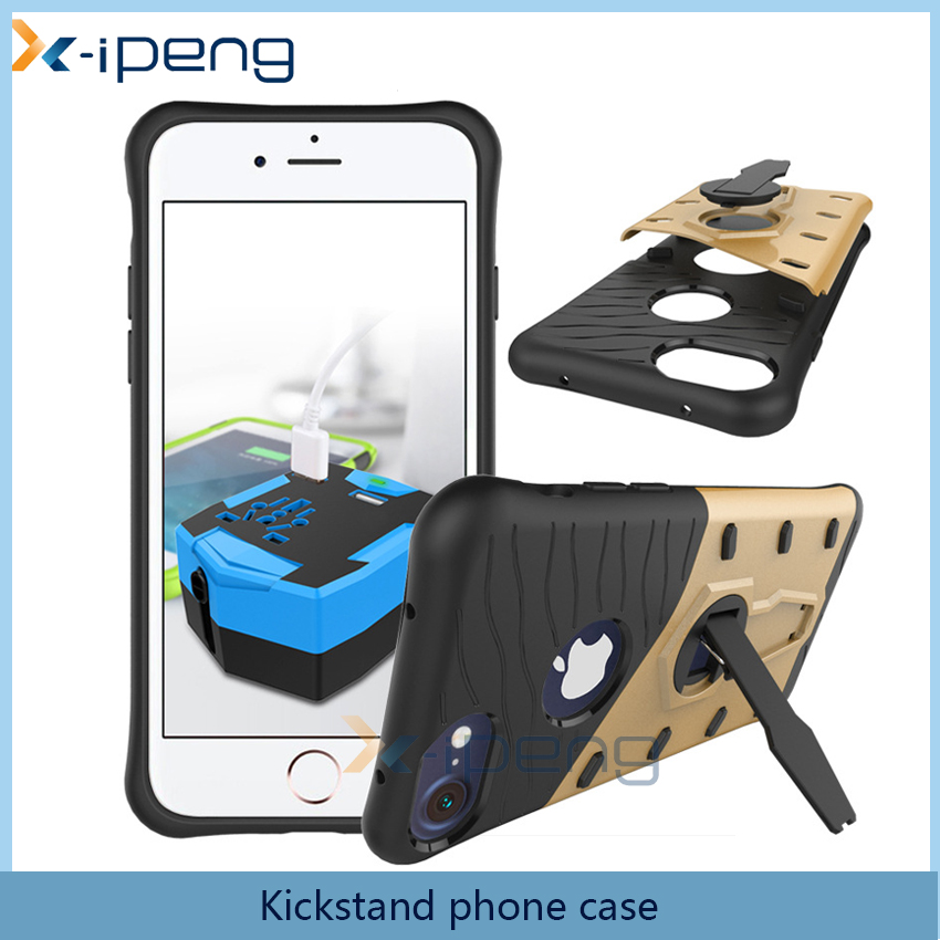 New promot Items wholesale cheap price Kickstand TPU PC cover case for Ipone 7