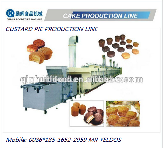 high capacity automatic cake production line with stuffing