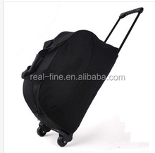 free shipping Large capacity high quality portable trolley luggage bag canvas travel trolley bag luggage bag