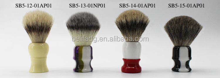 Belifa resin handle badger hair shaving brush oem wholesale
