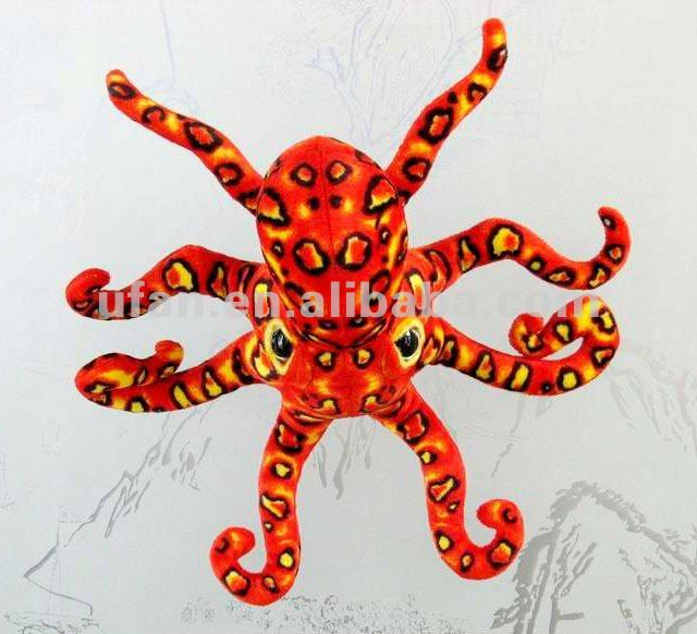 Very funny stuffed leopard octopus toy soft stuffed toy