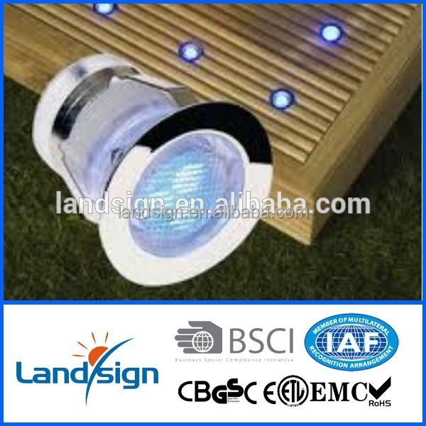 1x30mm Stainless Steel Outdoor Garden Path Lighting Recessed LED Step Deck Light