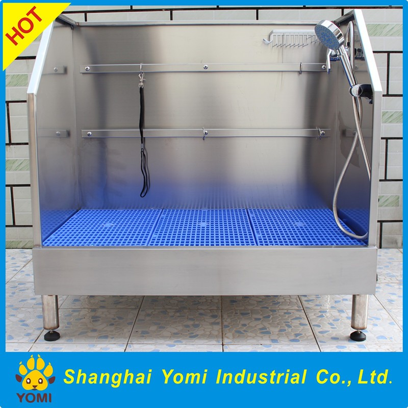Practical stainless steel dog grooming baths for sale