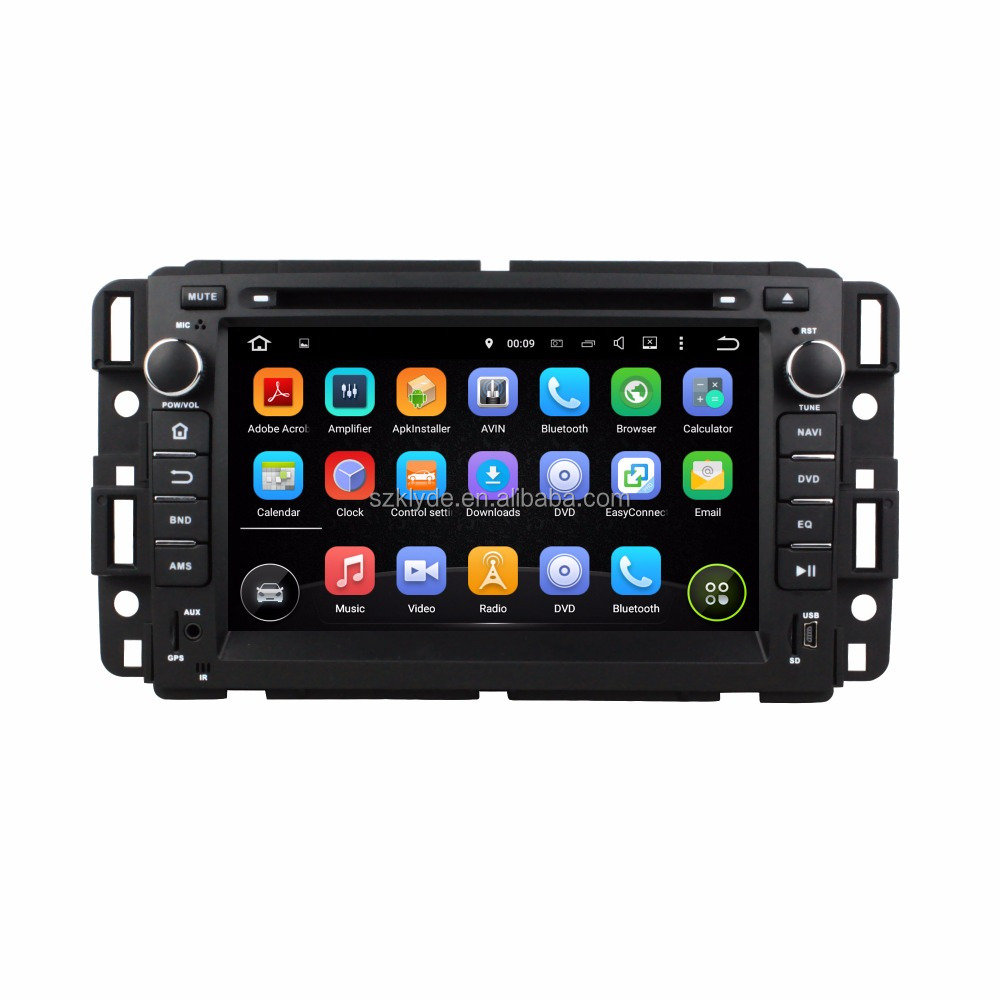 2015 new special quad core Android7.1.2 touch screen mirror link car dvd player for Yukon/Tahoe