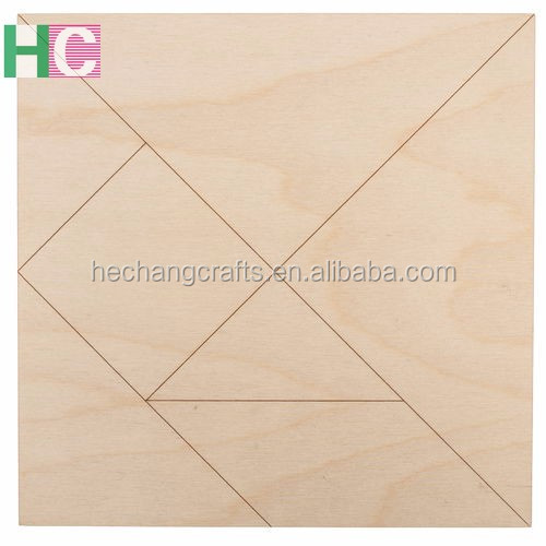 unfinished Tangram,puzzle,wooden educational toy for sale