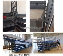 Telescopic stand bleachers gym bleacher seating with HDPE chairs