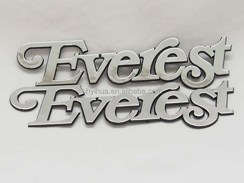 Customize ABS plastic chrome plating car badge emblems