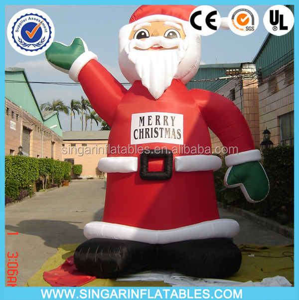 2016 Christmas Giant Santa Claus Balloon/ Xmas large Inflatable Santa Claus