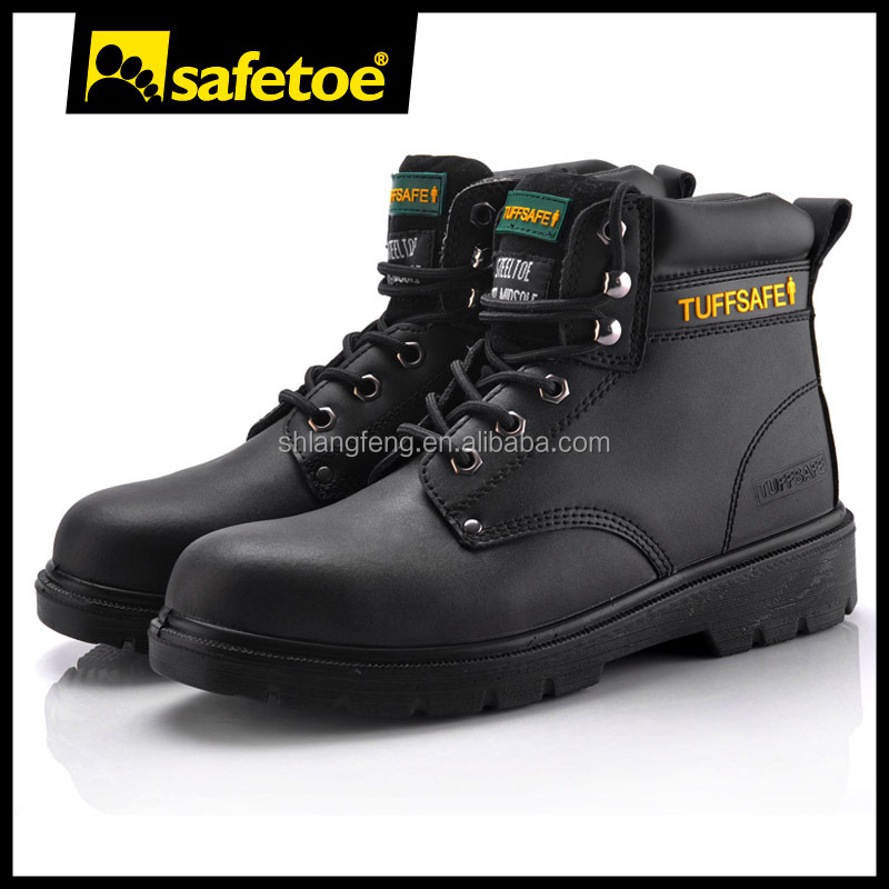 Leather steel toe safety shoes, men shoes fashion