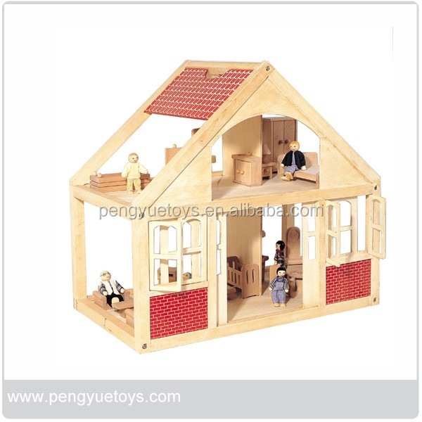 Very cute wooden diy miniature house for baby doll