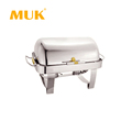 MUK hotel restaurant buffet stainless steel luxury sliver dish chafing