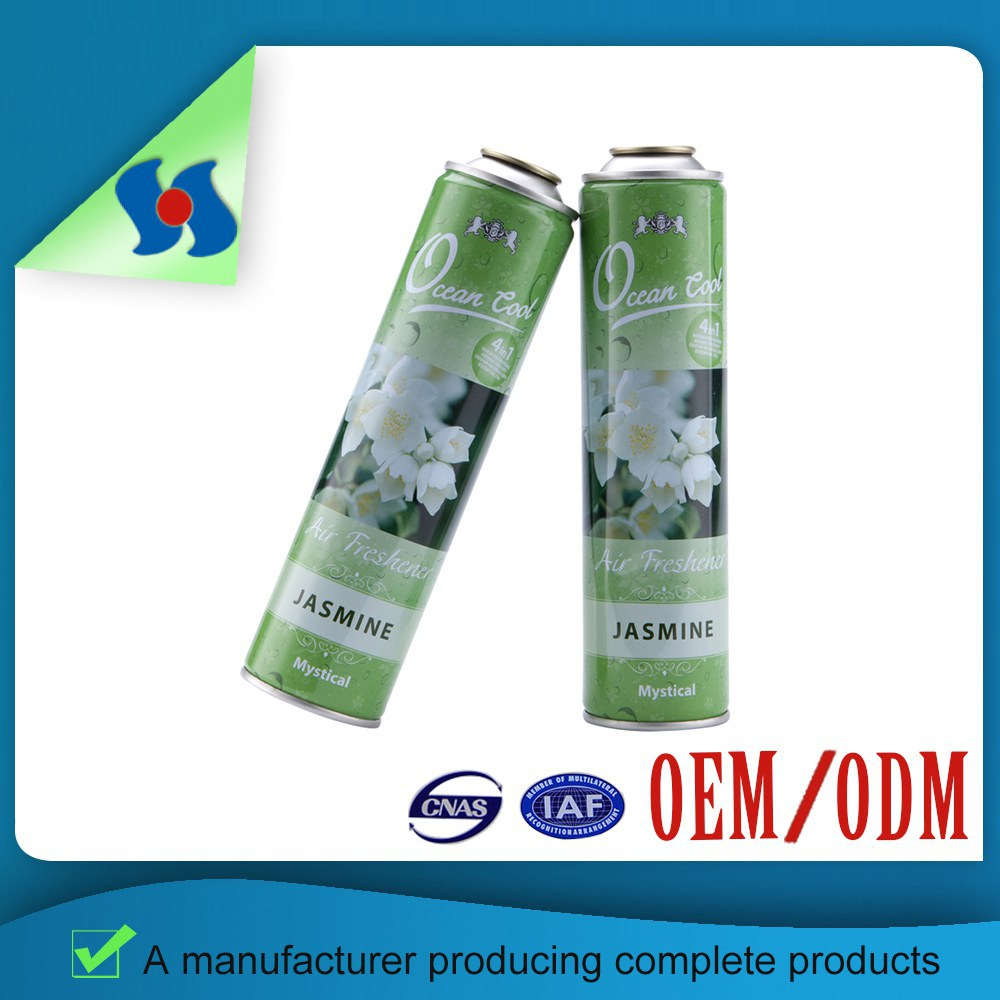 Top Grade Four Colors And Spot Color Empty Car Care Air Freshener/Aerosol Spray Tin Cans
