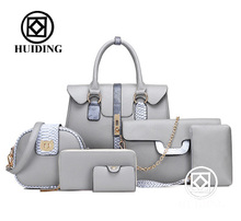 2017 handbag Newly designed <strong>Bag</strong> six <strong>bags</strong> in one set women messager <strong>bag</strong> wholesale ladies <strong>totes</strong> handbags
