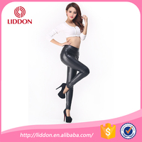 Fashion Black Womens Leggings Stretch Leather Sexy High Waist Pants