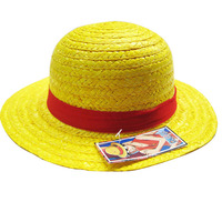 one piece straw and ribbon trims luffy hat