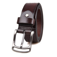B015 Customized Men Leather Belt Wholesale Leather Belt for Man Classic Pin Buckle