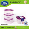 Stackable fruit plastic container
