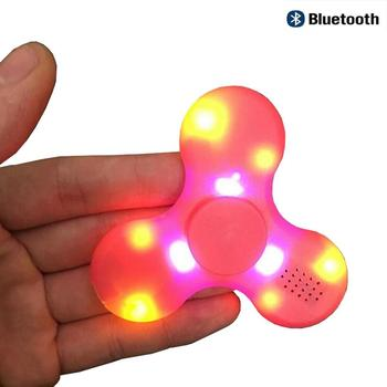 LED hand spinner fidget spinner with bluetooth speaker