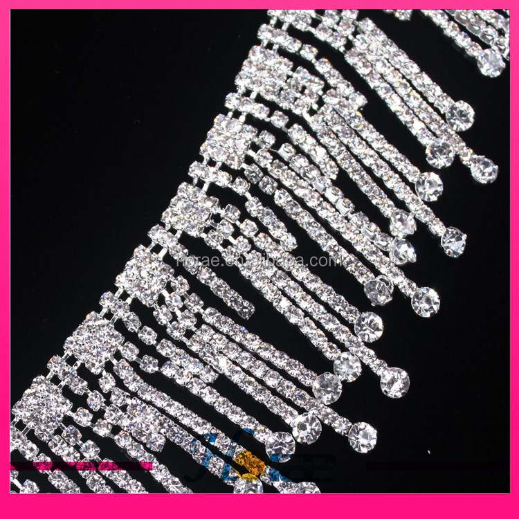 high quality ASFOUR crystal chain trim rhinestone trim for wedding