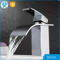 2017 new hand washing Mixer Tap Chromed Polished bathroom basin waterfall faucet