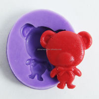 Nicole Gummy Bear Jelly Mold Silicone Rubber Mold F0403 single