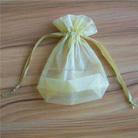 widely used drawstring multiple colors organza gift bag with ribbon