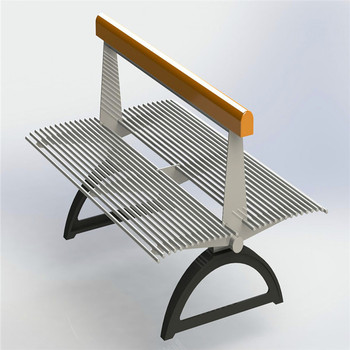 Anti-rust stainless steel with PE plastic and cast aluminum ends seating bench for outdoor use