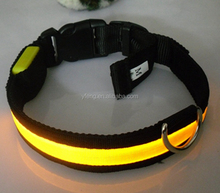 New Safety Pet Products LED Dog Collar Nylon Light-up Flashing Glow LED Collars S M L XL Neck Strap For Dog