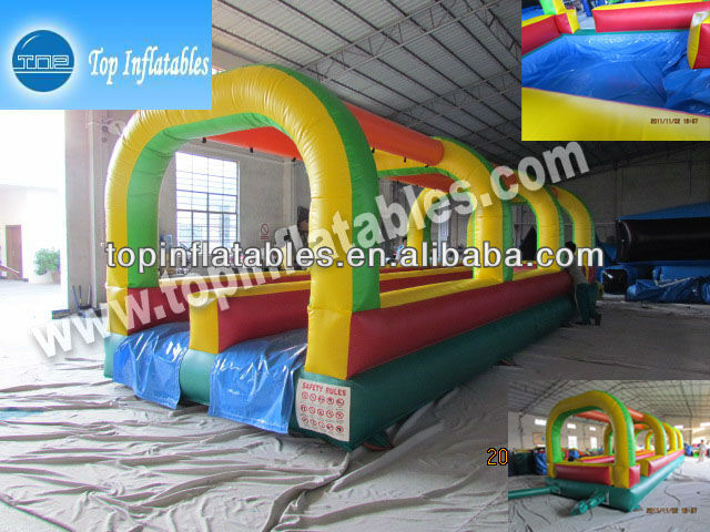 TOP 0.55mm PVC inflatable slip and slide-double lane