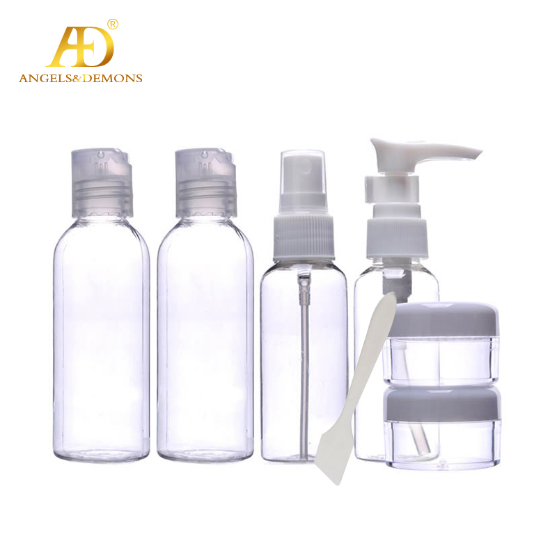 Travel portable cosmetics packing bottle suit/travel wash gargle suit/emulsion packing bottle suit 7pcs of package