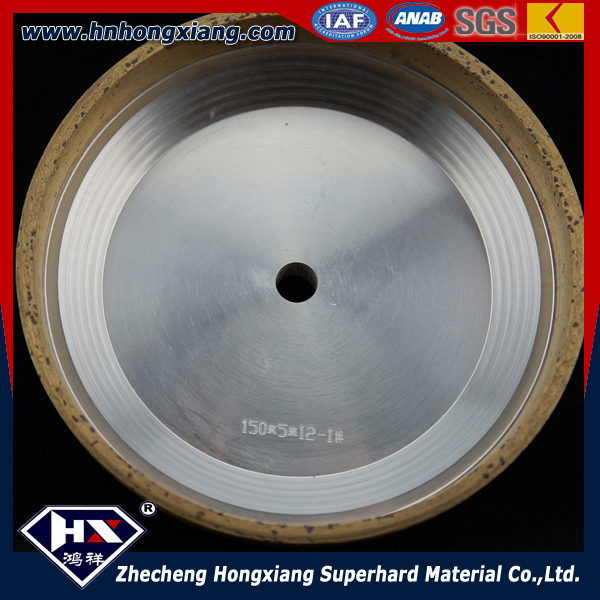 Bevelling machine glass grinding and polishing wheel / metal and resin bond / diamond wheel