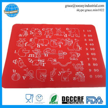 Food grade silicone microwave table place mats for kids
