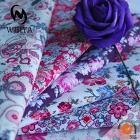 cotton printed corduroy fabric with many patterns