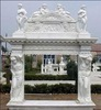 Freestanding Indoor Marble Statue Carved Fireplace Mantel