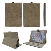 Hotselling 9.7 Inch Frosted PU Leather Tablet Case for Ipad2 Cover with Stylus Holder