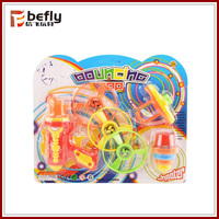 2 IN 1 plastic flying spinning toys with light