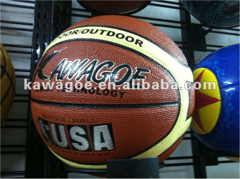 size 7 PVC/PU/TPU laminated basketball