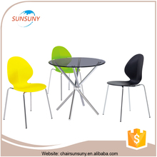 China popular design cheap modern hideaway dining table and chairs for sale