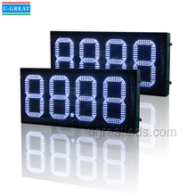 Alibaba Gold Supplier 12inch 88.88 White Color LED Digital Price Sign for Gas Station