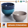 "China products color glazed ceramic rice bowl,5.5"" matt stoneware bowl"