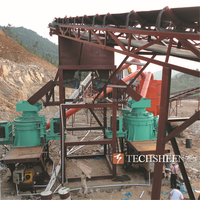 Sand Making Crushing Plant with Cone Crusher and Vertical Shaft Impact Crusher