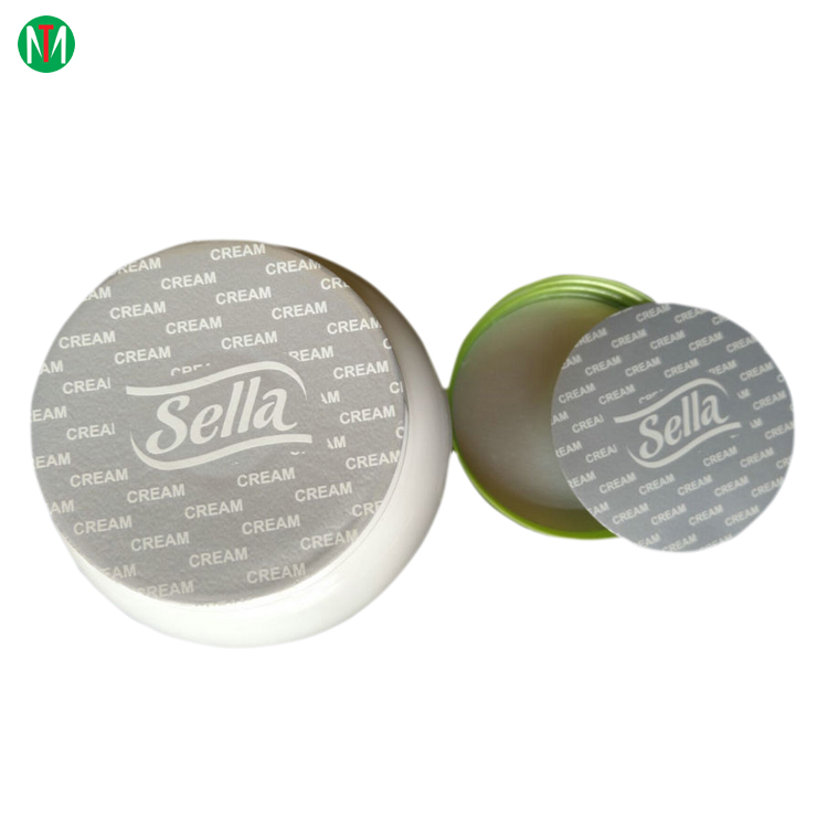 Sealed for your protection easy peelable aluminum foil induction seal liners for cosmitic jar