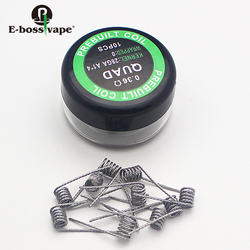 China 2018 hot sale A1 Prebuilt Coils 10PCS/Box Vape Fancy Heating Wire A1 Coils Clapton Alien Tiger ETC