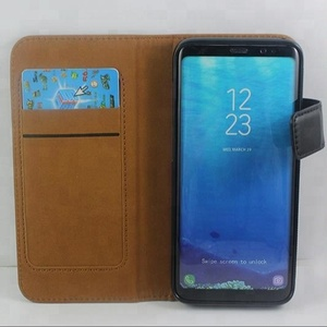 Universal PU leather case, 2 in 1 detachable back cover with card slots leather case for huawei P10/P20 lite