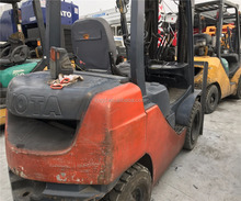 Price Cheap Toyota 3 Ton Forklift Japan Original 8FD30 Used Forklift with triple masts