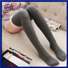 Yhao Brand Custom High Thigh Tube Socks Sexy Girl Lace Stockings