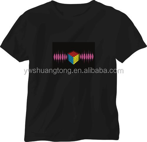 Sound with Music Activated EL Dancer LED T-shirt